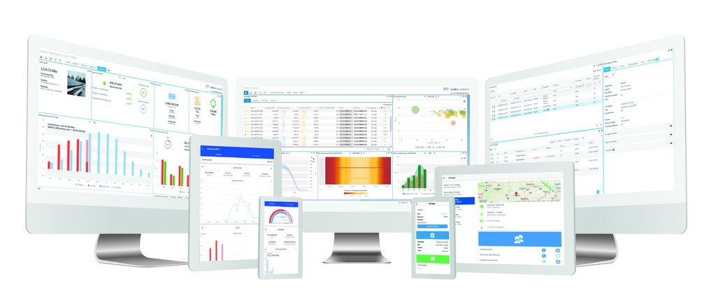 vcom cloud monitoring software for pv on different screens and devices