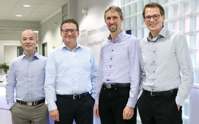 meteocontrol´s expanded management team: Chris Liu, Robert Pfatischer, Martin Schneider and Stefan Rensberg